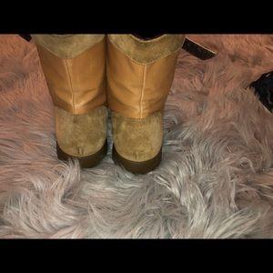 MaxMara Shoes - MaxMara Weekend Lace-Up Leather Boots | Sz. 9